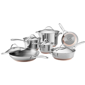 Anolon Nouvelle Copper Stainless Steel 11 Pc. Cookware Set