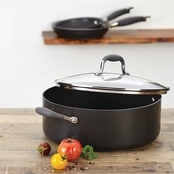 Anolon Advanced Hard Anodized Nonstick 7.5 Quart Covered Wide Stockpot, Gray