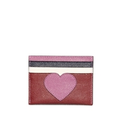 COACH Boxed Flat Card Case With Heart Motif