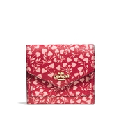 COACH Boxed Small Wallet With Love Leaf Print