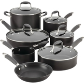 Anolon Advanced Hard Anodized Nonstick 12 Pc. Cookware Set, Gray