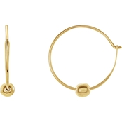 Karat Kids Girls 14K Gold Youth Hoop Earrings