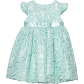 Princess Faith Infant Girls Lace with Flutter Dress