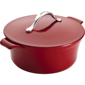 Anolon Vesta Cast Iron Cookware Round Covered Casserole