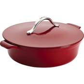 Anolon Vesta Cast Iron Cookware 5 Qt. Round Covered Braiser