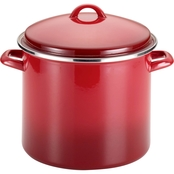 Rachael Ray Enamel on Steel 12 Quart Covered Stockpot