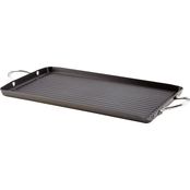 Rachael Ray Hard Anodized Nonstick 18 X 10 In. Double Burner Grill with Pour Spout