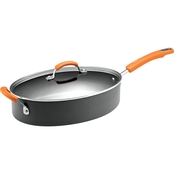 Rachael Ray Hard Anodized Nonstick 5 Quart Covered Oval Saute Pan