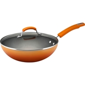 Rachael Ray Hard Enamel Nonstick 11-In. Covered Soup, Sauce and Saute Pan