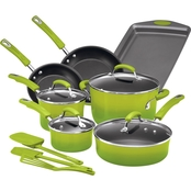 Rachael Ray Hard Enamel Nonstick 14-Pc. Cookware Set