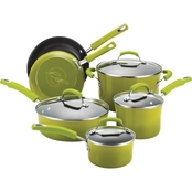 Rachael Ray Hard Enamel Nonstick 10-Pc. Cookware Set