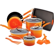 Rachael Ray Porcelain Nonstick 14-Pc. Cookware Set with Bakeware and Tools