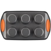 Rachael Ray Yum-o! Nonstick Bakeware 6 Cup Oven Lovin' Cups Muffin Pan