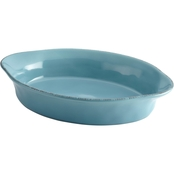 Rachael Ray Cucina Stoneware 2 Qt. Oval Baker