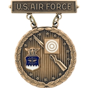 Air Force Bronze Excellence Competition Rifleman With Wreath Large Badge