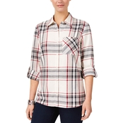 Style & Co Plaid Cotton Shirt
