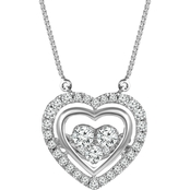 Dazzling Diamonds 10K White Gold 3/8 CTW Diamond Fashion Pendant