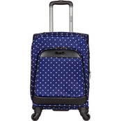 Reaction Kenneth Cole 20 In. Polka Dot Printed Expandable 4-Wheel Upright Carry-On