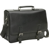 Reaction Kenneth Cole Leather Double Compartment Flapover Business Portfolio