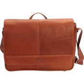 Reaction Kenneth Cole Colombian Leather Single Gusset Flapover Messenger Bag