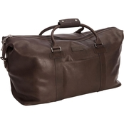 Reaction Kenneth Cole Colombian Leather 20 In. Single Compartment Top Zip Duffel