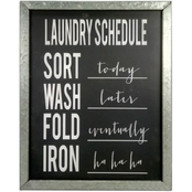 Simply Perfect Framed Laundry Wall Art