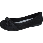 Jellypop Arion Bow Lace Flats with Memory Foam