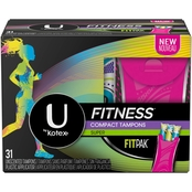 U by Kotex Fitness Tampons with FITPAK, Super Absorbency, Unscented