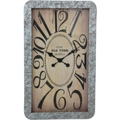Simply Perfect Rustic Rectangle Wall Clock