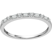 10K White Gold 1/5 CTW Diamond Fashion Band, Size 7
