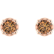 10K Rose Gold 3/8 CTW Diamond Stud Earrings