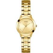 Guess Women's Goldtone Stainless Steel Bracelet Watch 30mm U0989L2