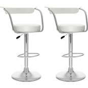 CorLiving Open Back Adjustable Bar Stool 2 Pk.