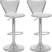 CorLiving Tall Curved Back Adjustable Bar Stool 2 Pk.