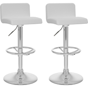 CorLiving Low Back Adjustable Bar Stool 2 Pk.