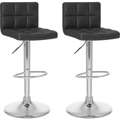 CorLiving High Back Adjustable Bar Stool 2 Pk.