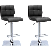 CorLiving Adjustable Barstool in Bonded Leather 2 Pk.