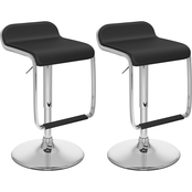 CorLiving Adjustable Bar Stool in Leatherette with Footrest 2 Pk.