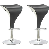 CorLiving Adjustable Two Toned Bar Stool in Black and White 2 Pk.