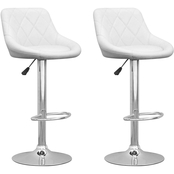 CorLiving Adjustable Diamond Back Bar Stool in Leatherette 2 Pk.
