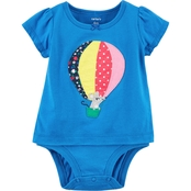 Carter's Infant Girls Hot Air Balloon and Mouse Double Decker Bodysuit