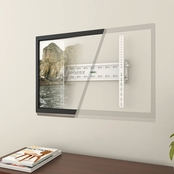 CorLiving Tilting Flat Panel White Wall Mount for 32 In. - 55 In. TVs