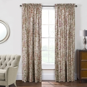 Commonwealth Home Fashions Rockport Pole Top Lined Panel Pair with Tiebacks