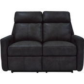 Omnia Leather Riverside Reclining Love Seat