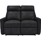 Omnia Italian Leather Riverside Reclining Loveseat