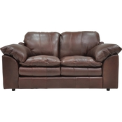 Omnia Italian Ventura Leather Loveseat