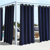 Commonwealth Home Fashions Coastal Outdoor Grommet Top Panel