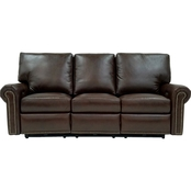 Omnia Leather Fairfield Reclining Sofa