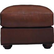 Omnia Leather Huntington Ottoman