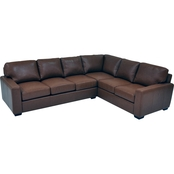 Omnia Leather City Craft 2 Pc. Sectional LAF Sofa/RAF Loveseat